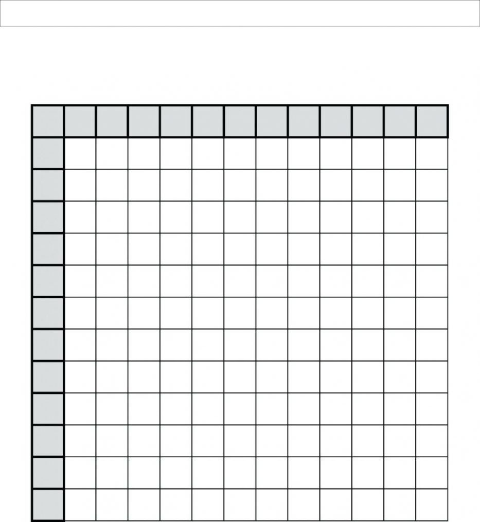 Multiplication Table Printable Blank