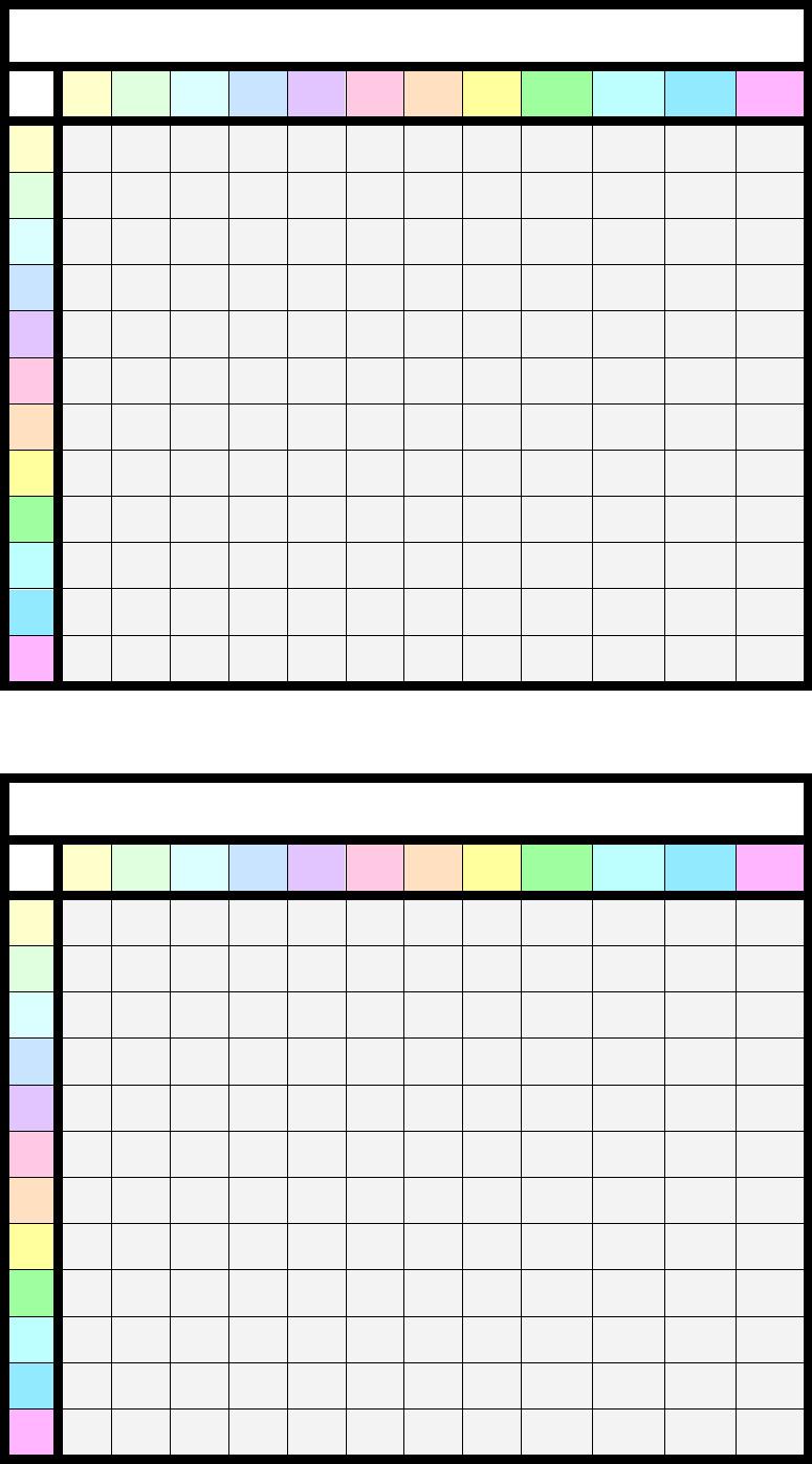 Free Printable Blank Multiplication Table Multiplication Table