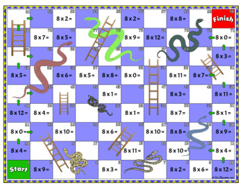 8 Times Multiplication Table Games