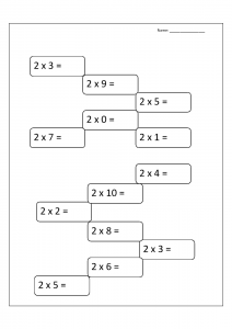 Multiplication Word Problems Worksheets for Grade 2