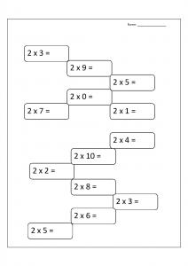 Multiplication Word Problems Worksheets for Grade 2