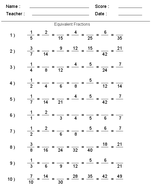 Multiplying Fractions Worksheets Grade 8