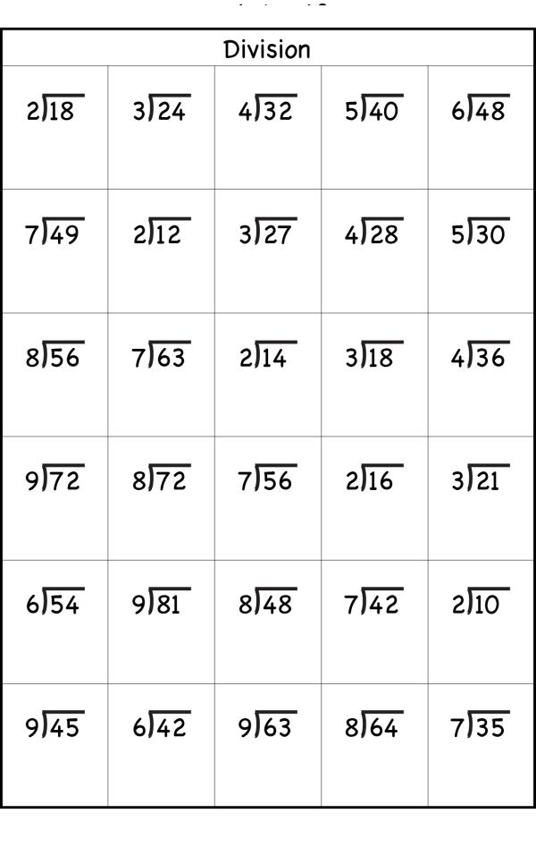 Division Worksheets Grade 3 PDF